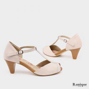 176015 - נעלי עקב מורליה בצבע לבן