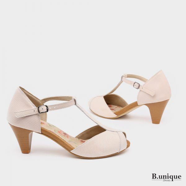 בלעדי לאתר: 176015 - 'נעלי עקב מורליה בצבע בז