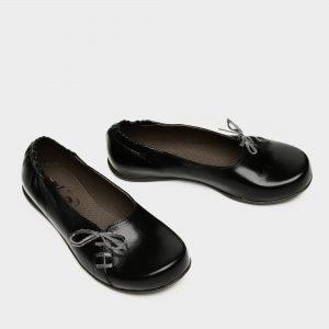 דגם ירין: נעלי בובה בצבע שחור