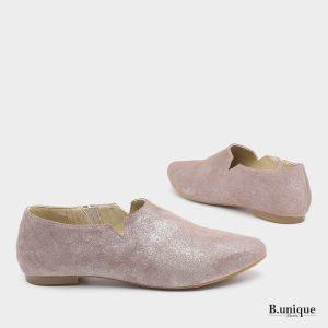 דגם מארני: נעליים סגורות בצבע אפור נצנץ