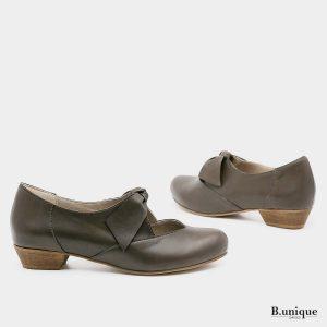 בלעדי לאתר - דגם אנדריאה: נעליים בצבע ירוק זית