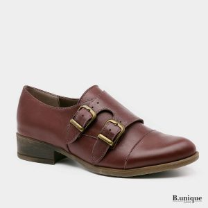 דגם ברנדה: נעלי אוקספורד בצבע בורדו