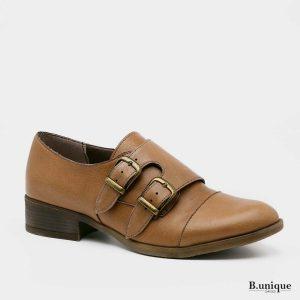 דגם ברנדה: נעלי אוקספורד בצבע קאמל