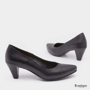 דגם לילי: נעלי עקב בצבע שחור