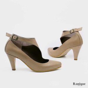 דגם שירלי: נעלי עקב בצבע חאקי