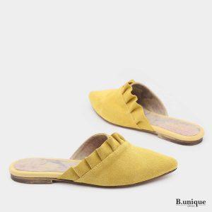 דגם פליסה: כפכף בצבע צהוב