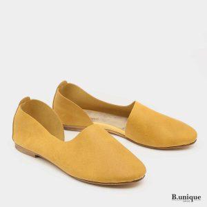 דגם סרינה נעליים בצבע צהוב חרדל