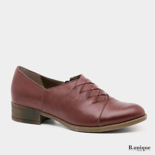 בלעדי לאתר - דגם ג'נט נעליים בצבע בורדו