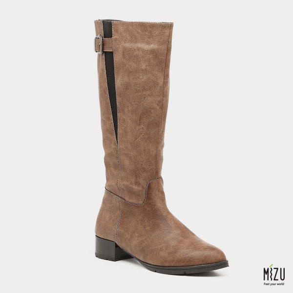 בלעדי לאתר - דגם מלווינה: מגפיים בצבע חום