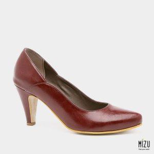 דגם פלורנסיה: נעלי עקב בצבע בורדו