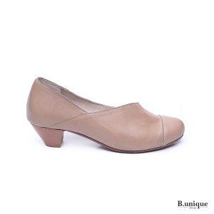 נעל בובה אסימטרית  בצבע טאופ- 174113