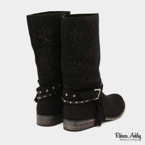 דגם מקסין: מגפיים בצבע שחור