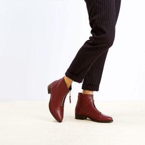 בלעדי לאתר - דגם אשלי: מגפונים לנשים בצבע אדום – B.unique