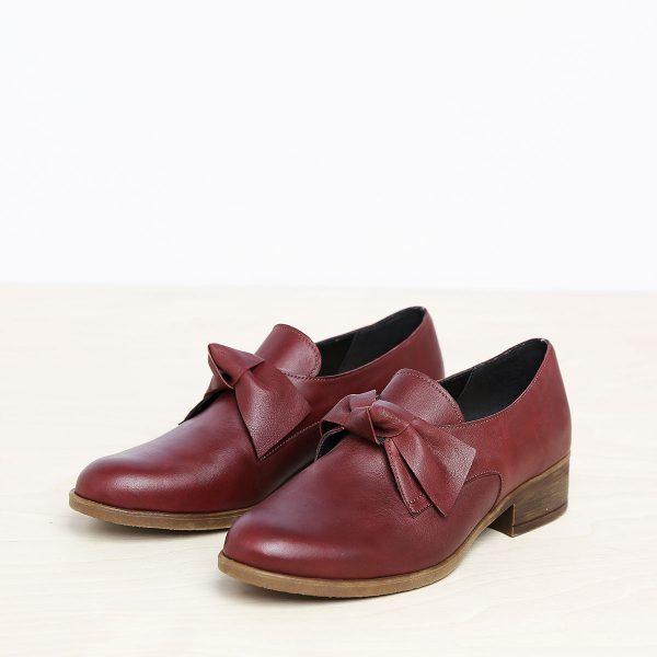 בלעדי לאתר - דגם קרלי: נעליים בצבע בורדו – B.unique