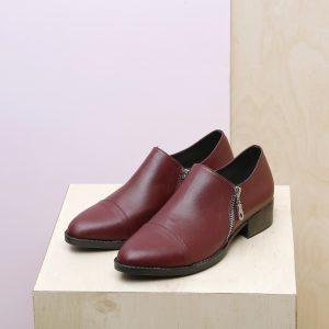 בלעדי לאתר - דגם מנדי: נעליים בצבע בורדו – B.unique