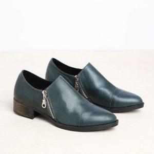 בלעדי לאתר - דגם מנדי: נעליים בצבע ירוק – B.unique