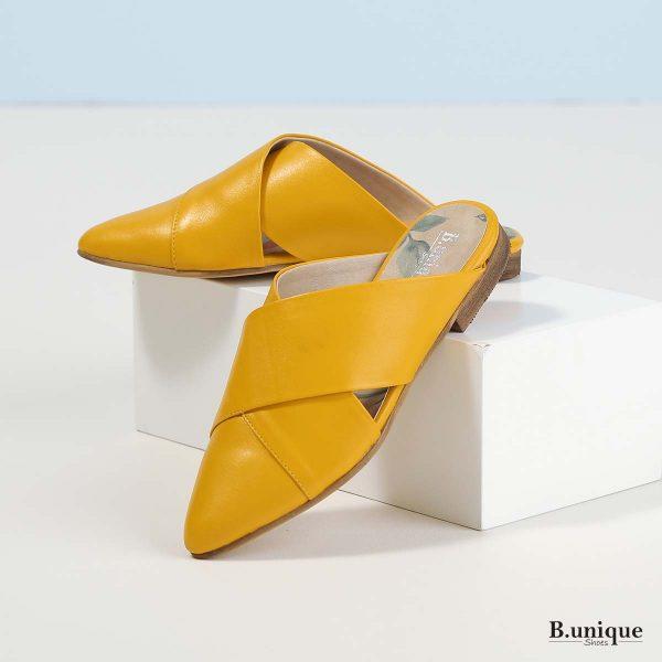 דגם לונדי: כפכפים בצבע צהוב