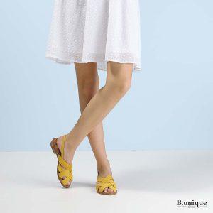 דגם מדיסון: סנדלים בצבע צהוב