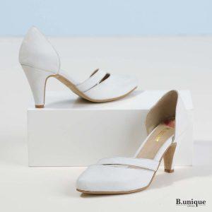 דגם אוליביה: נעלי עקב בצבע לבן