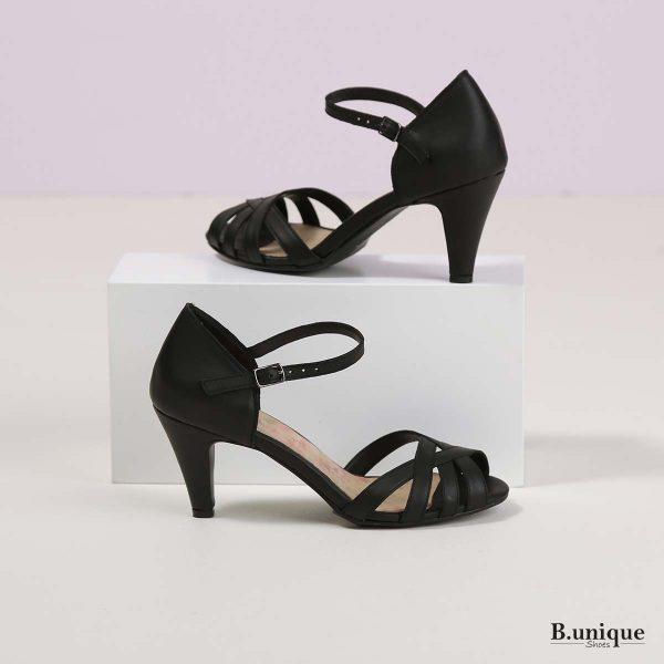 דגם שרלוט: סנדלים בצבע שחור