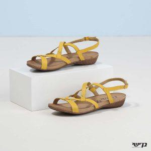 בלעדי לאתר - דגם מרגוט: נעליים בצבע צהוב