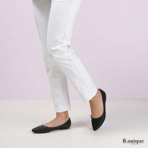 דגם אניקה: נעלי בובה בצבע שחור