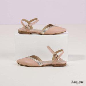 דגם סמנתה: נעליים בצבע פודרה