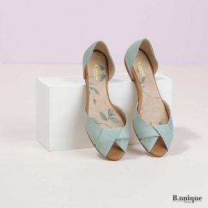דגם קרולין: נעליים בצבע מנטה