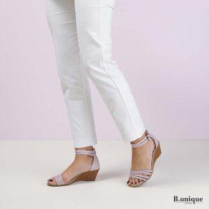 בלעדי לאתר - דגם רוקסנה: סנדלים בצבע סגול לילך