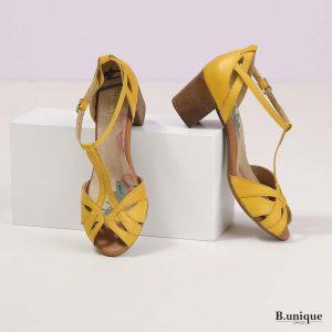 בלעדי לאתר - דגם סייג': סנדלים בצבע צהוב