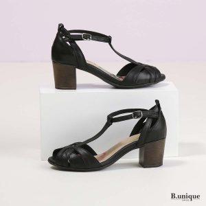 בלעדי לאתר - דגם סייג': סנדלים בצבע שחור