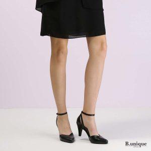 דגם אוולין: נעלי עקב בצבע שחור