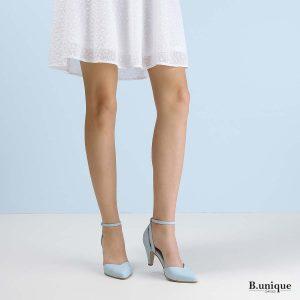 דגם אוולין: נעלי עקב בצבע תכלת