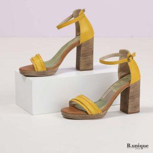 בלעדי לאתר - דגם קטיה: נעליים בצבע צהוב