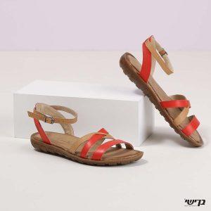 דגם שרה: סנדלים בצבע אדום