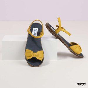 בלעדי לאתר - דגם ססיליה: נעליים בצבע צהוב