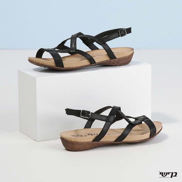 בלעדי לאתר - דגם מרגוט: נעליים בצבע שחור