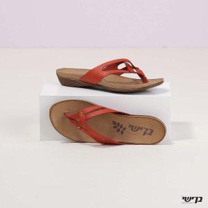 בלעדי לאתר - דגם סוזי: נעליים בצבע אדום