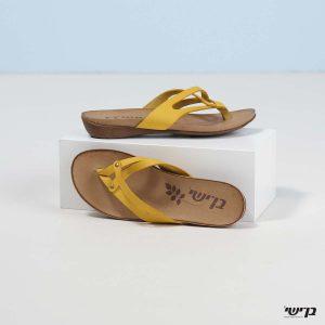 בלעדי לאתר - דגם סוזי: נעליים בצבע צהוב