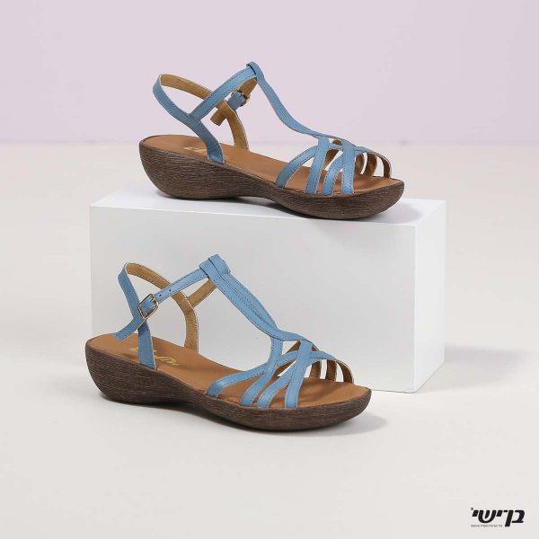בלעדי לאתר - דגם מרצ'לה: נעליים בצבע ג'ינס