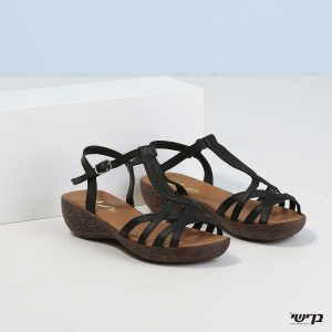 בלעדי לאתר - דגם מרצ'לה: נעליים בצבע שחור
