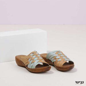 בלעדי לאתר - דגם אמבר: נעליים בצבע קאמל ומנטה
