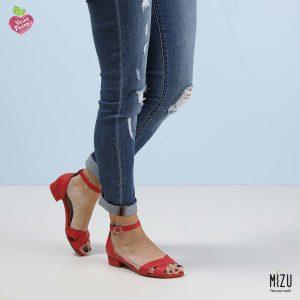 בלעדי לאתר - דגם איזמרלדה: נעליים בצבע אדום