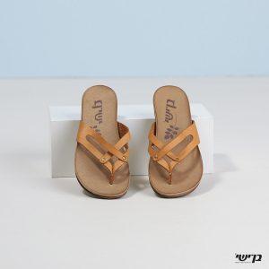 בלעדי לאתר - דגם סוזי: נעליים בצבע קאמל