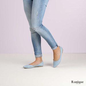 דגם אניקה: נעלי בובה בצבע ג'ינס