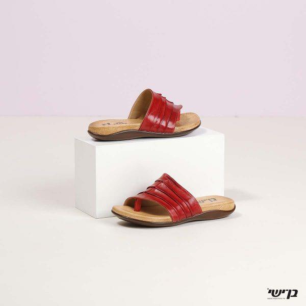 דגם סשה: כפכפים בצבע אדום