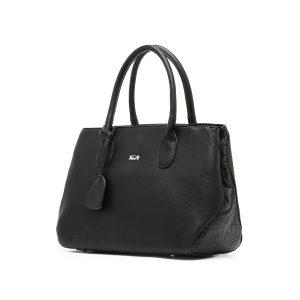 דגם בקי גדול: תיק צד לנשים בצבע שחור