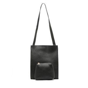 דגם איריס: תיק צד לנשים בצבע שחור