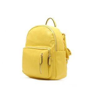 דגם רני: תיק גב לנשים בצבע צהוב