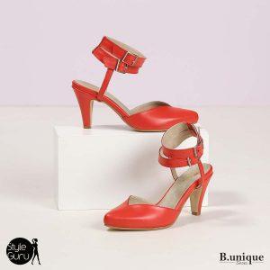 דגם איילת: נעלי עקב בצבע אדום